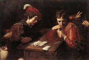 The Cardsharps by Valentin de Boulogne [Public domain], via Wikimedia Commons