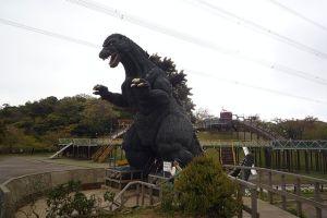 Kurihama Hana-no-Kuni Flower World Godzilla by Mizunoumi, CC-SA, via Wikimedia Commons