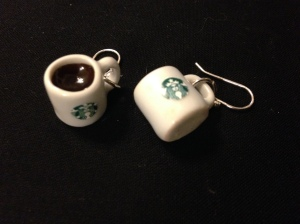 Coffee earrings!  Currently for sale in my Etsy Shop!