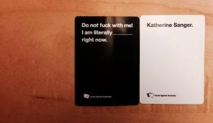 The awesomest Cards Against Humanity happening ever...and my FB cover photos...