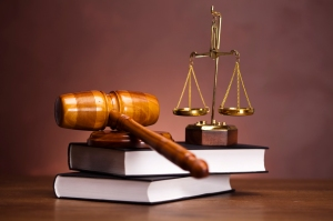 9790750 Legal background with wooden gavel